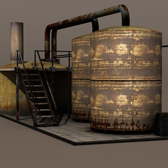 Factory Tanks - 3DOcean Item for Sale