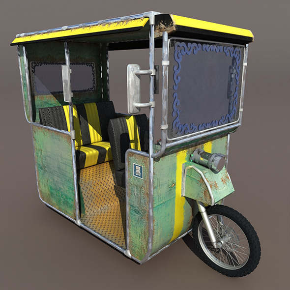 Old rickshaw - 3DOcean Item for Sale