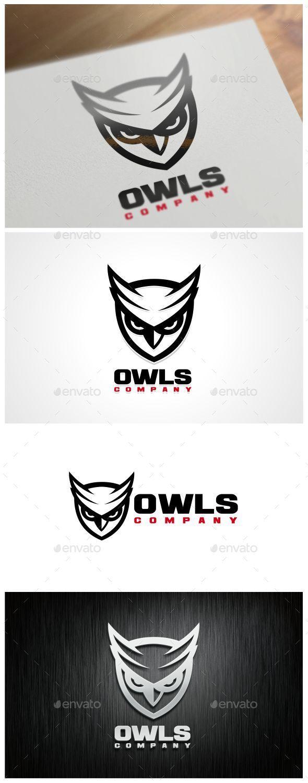 Owls Logo Template - Animals Logo Templates