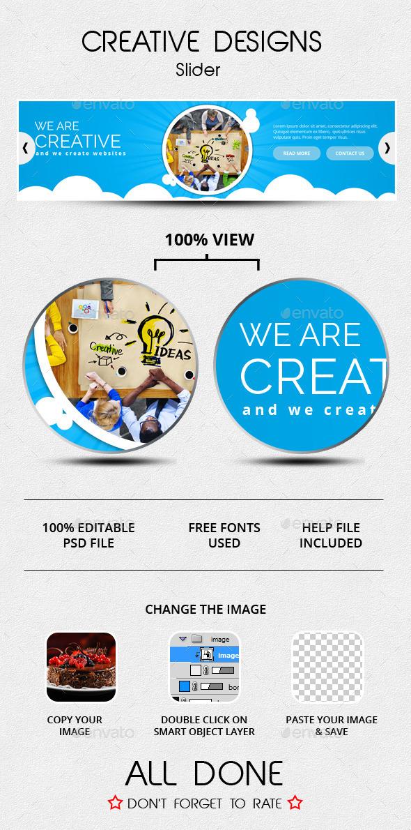 Creative Designs Slider - Sliders & Features Web Elements