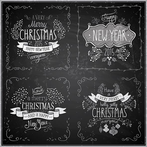 Christmas Hand Drawn Card Set - Christmas Seasons/Holidays
