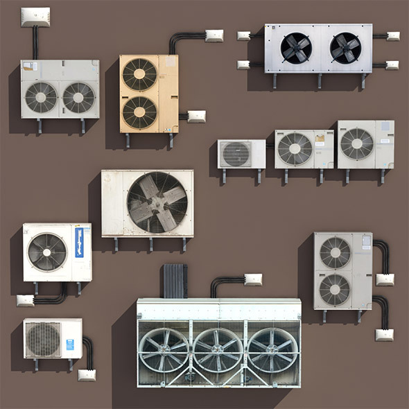 Air conditioning PACK Low Poly 3d Modle - 3DOcean Item for Sale