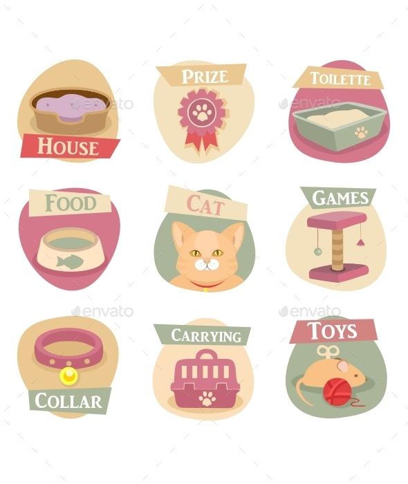 Cat Life Flat Icons  - Miscellaneous Conceptual