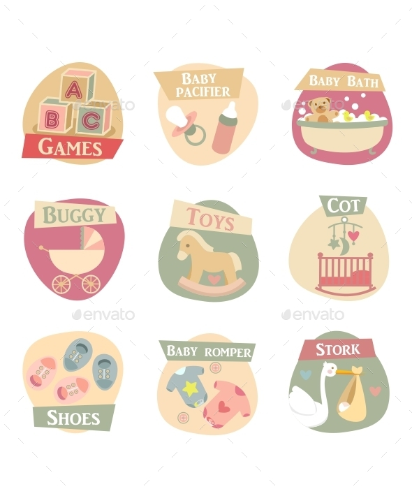 Baby Life Flat Icons  - Miscellaneous Conceptual