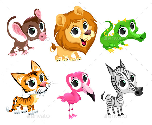 African Animals - Animals Characters