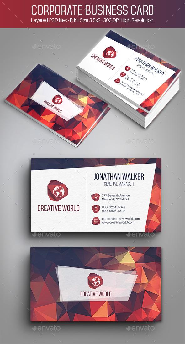 Creative Corporate Business Card - 002 - Creative Business Cards