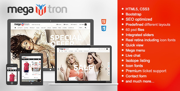 Megatron – Responsive HTML Shopping Theme