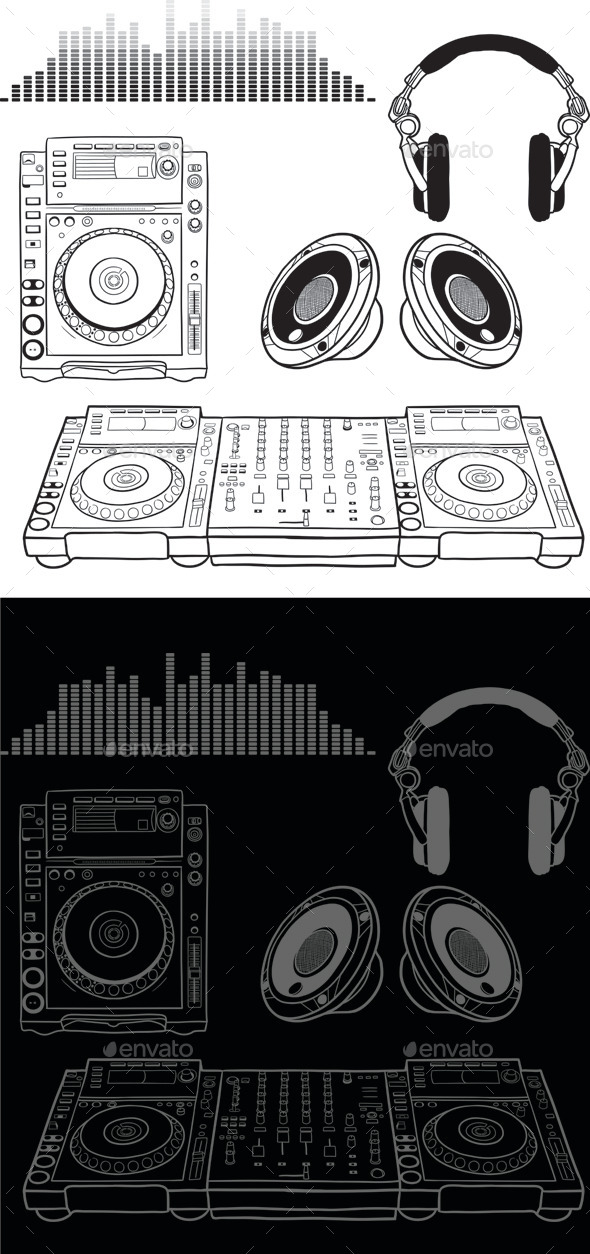 Dj Music Elements - Man-made Objects Objects
