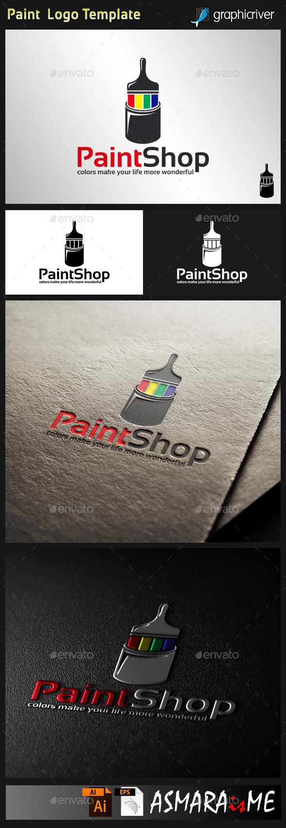 Paint Logo Template - Objects Logo Templates