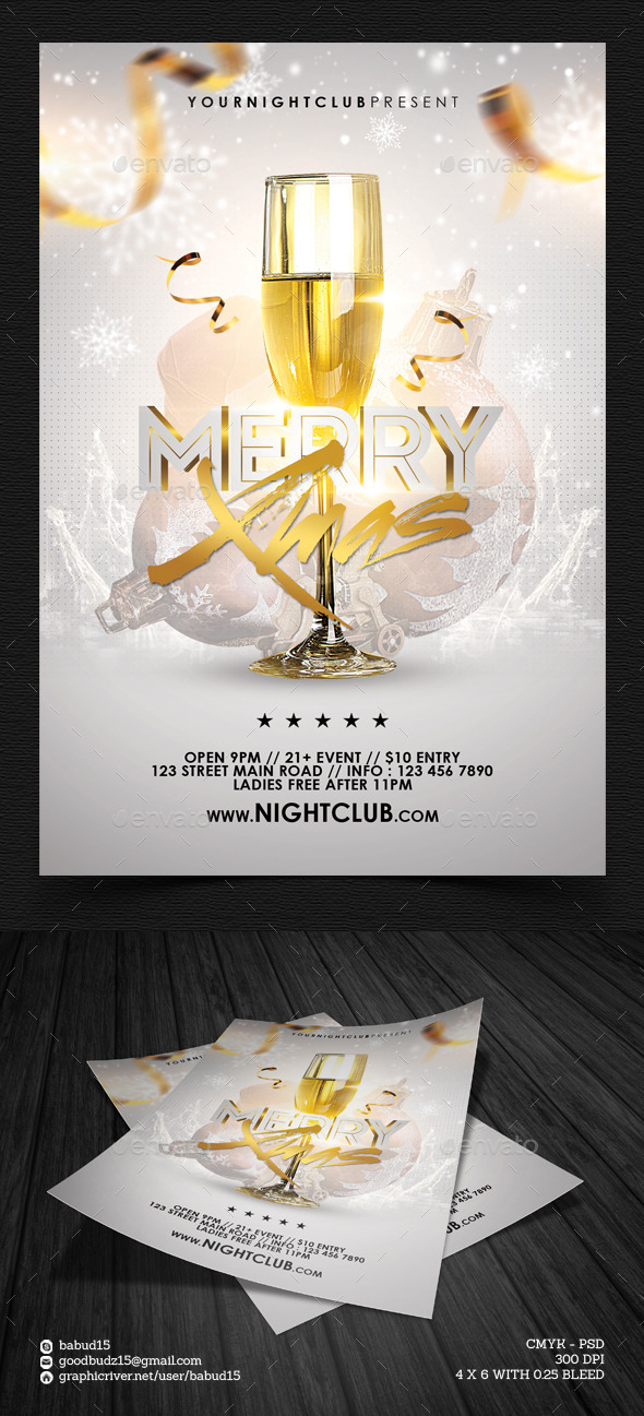 Merry Xmas Flyer Template - Events Flyers