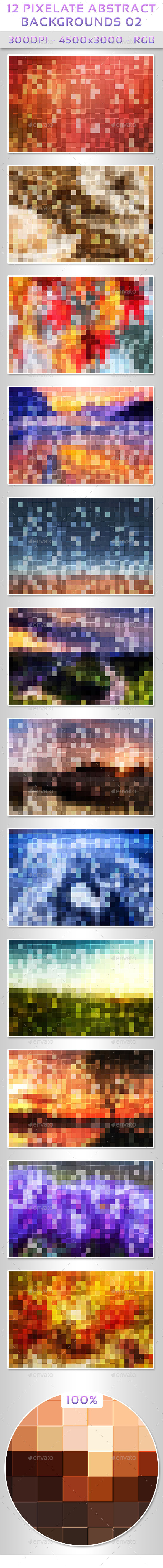 12 Pixelate Abstract Backgrounds 02 - Abstract Backgrounds