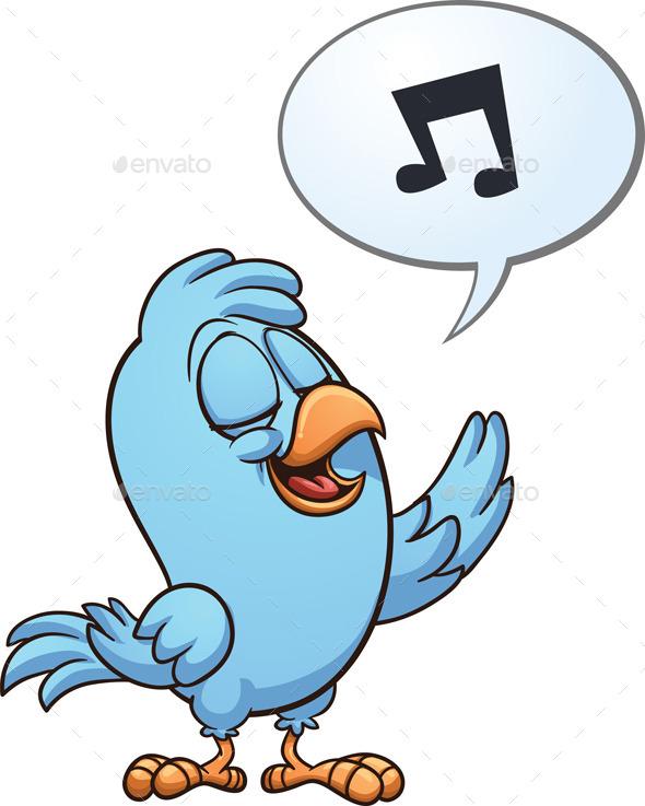 Singing Bird - Characters Vectors