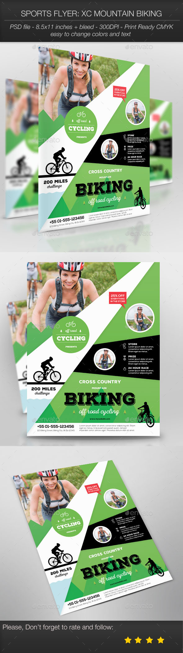 Sports Flyer: XC Mountain Biking - Sports Events