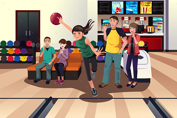 Young People Bowling - Sports/Activity Conceptual