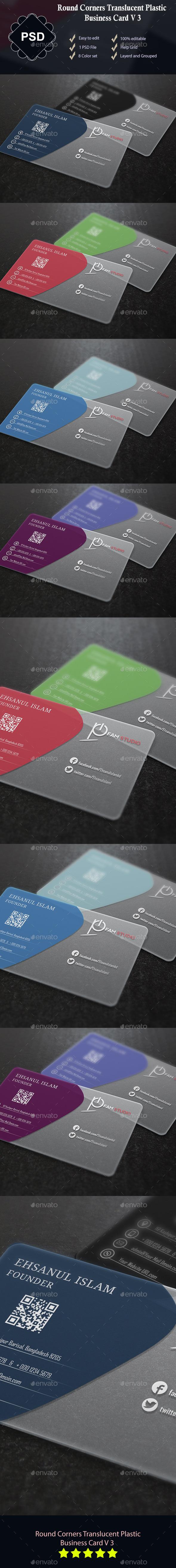 Round Corners  Transparent Plastic Business Card - Creative Business Cards