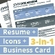 3-in-1 Deal: Resume Template + Icons + Business Card, Jordy S Template - GraphicRiver Item for Sale