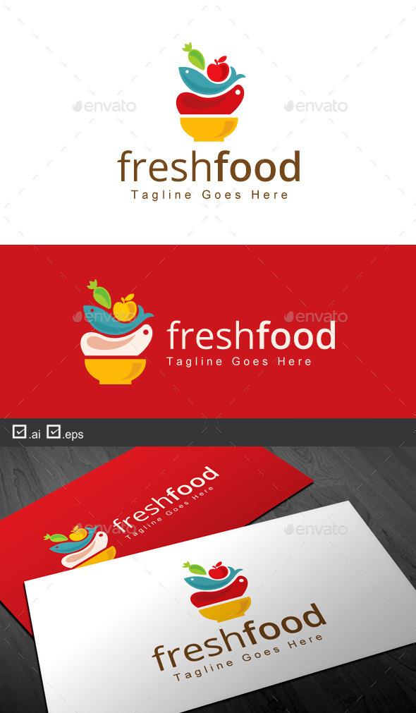 Fresh Food - Food Logo Templates