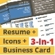 3-in-1 Deal: Resume Template + Icons + Business Card, UNS Template - GraphicRiver Item for Sale