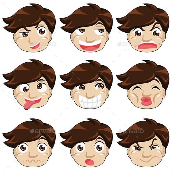 Different Face Expressions - People Characters