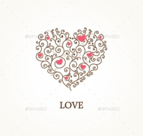 Greeting Heart Shape - Weddings Seasons/Holidays