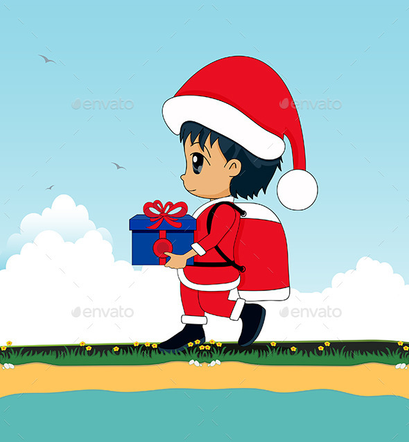 Children as Santa Claus - People Characters