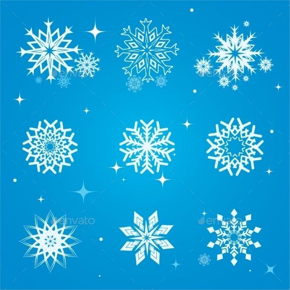 Snowflakes Set - Seasons Nature