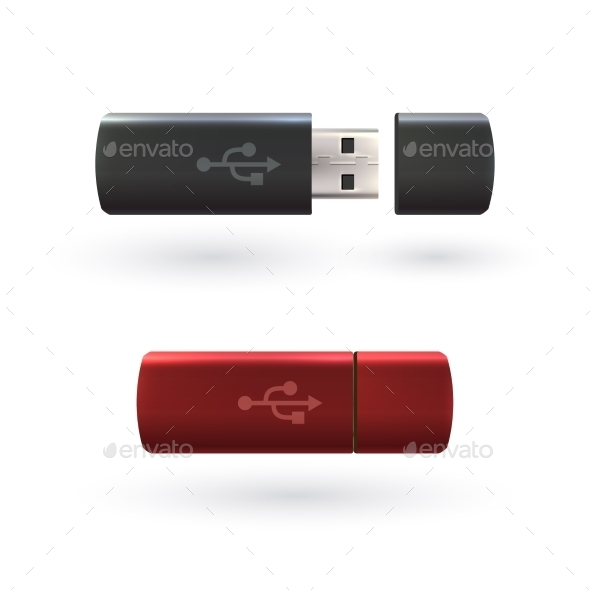 USB Flash Drive - Objects Vectors