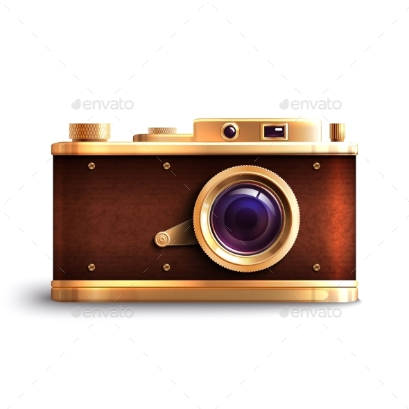 Retro Style Camera - Technology Conceptual