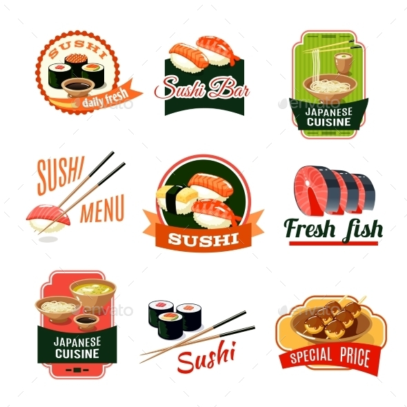 Asian Food Labels - Food Objects