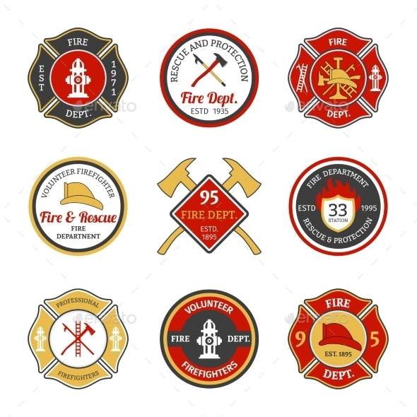 Fire Department Emblems - Miscellaneous Vectors
