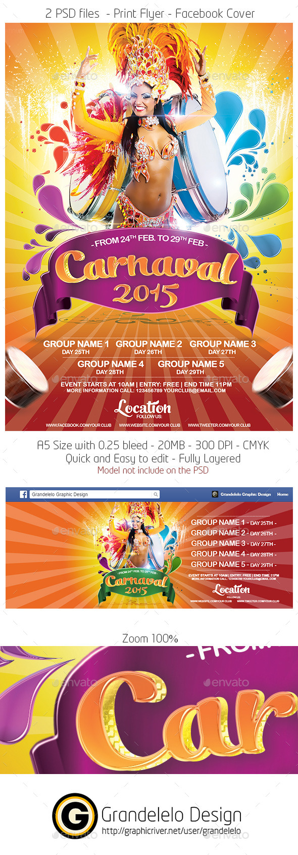 Carnival 2015 Flyer Template  - Events Flyers