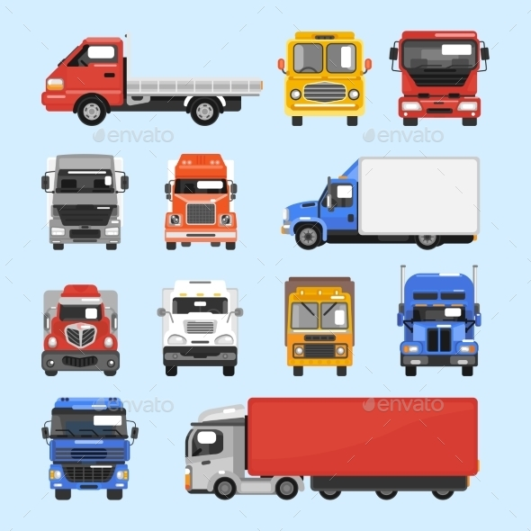 Truck Icons Set - Business Conceptual