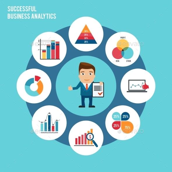 Business Chart Set - Backgrounds Business