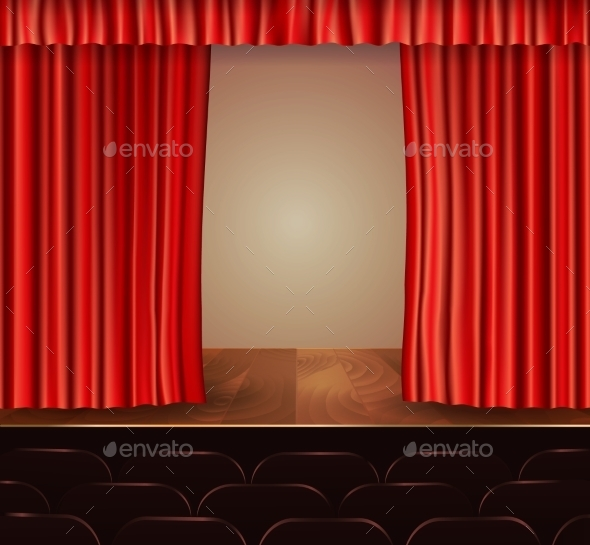 Theater Curtains Background - Backgrounds Decorative