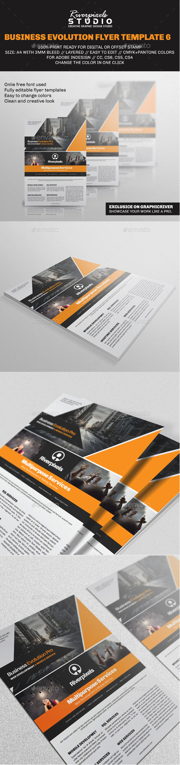 Business Evolution Flyer Template VI - Corporate Flyers
