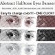 Abstract Halftone Eyes Banner  - GraphicRiver Item for Sale