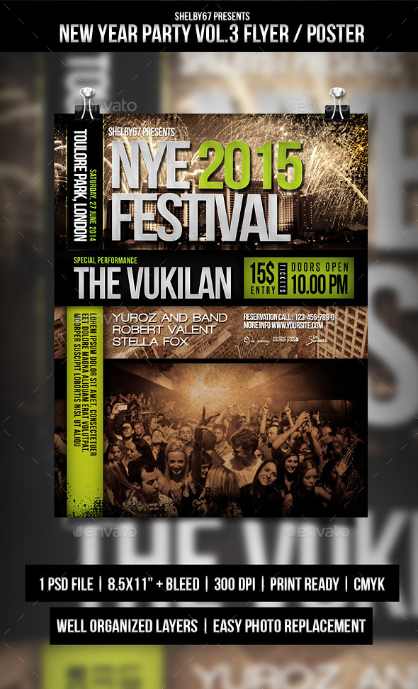 New Year Party Flyer / Poster Vol.3 - Events Flyers