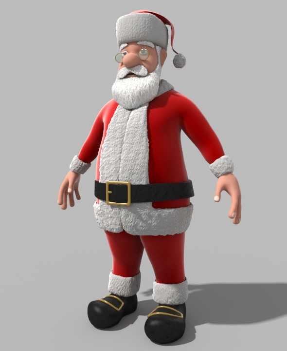 Cartoon Santa Claus - 3DOcean Item for Sale