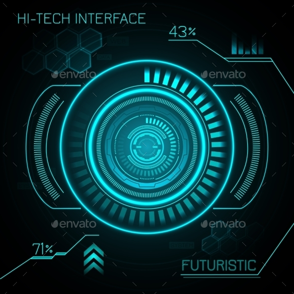 Hud Futuristic Background - Technology Conceptual