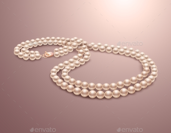 Pearl Necklace - Objects Vectors