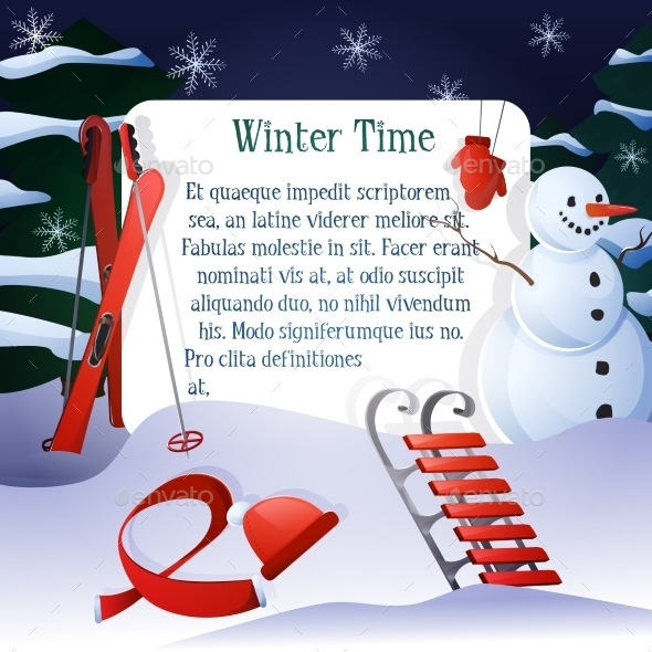 Winter Time Background - Miscellaneous Seasons/Holidays