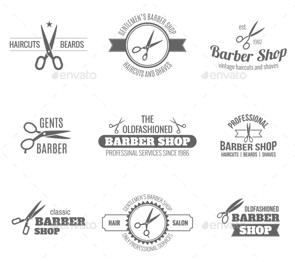 Barber Label Black - Miscellaneous Vectors