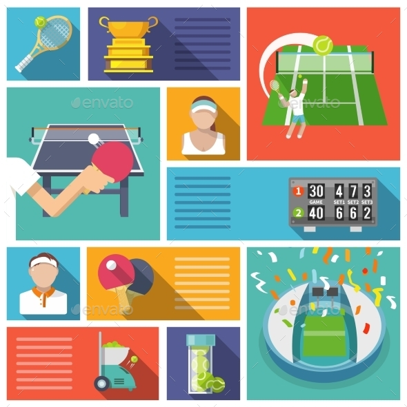 Tennis Icons - Sports/Activity Conceptual