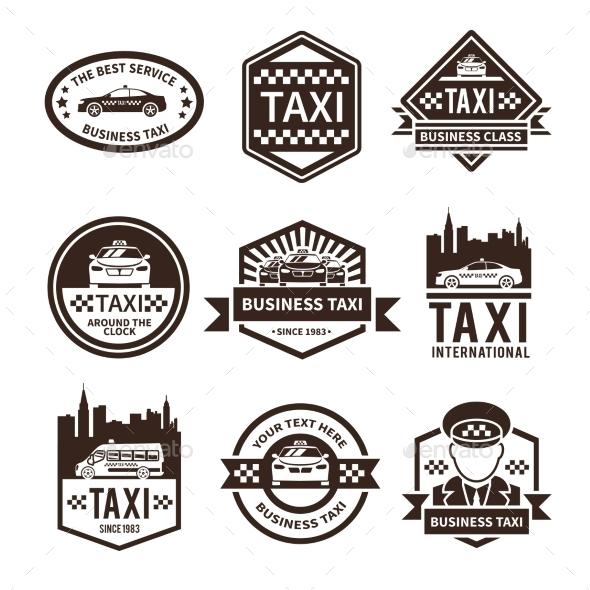 Taxi Black Label Set - Business Conceptual