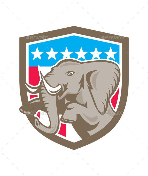 Elephant Shield  - Animals Characters