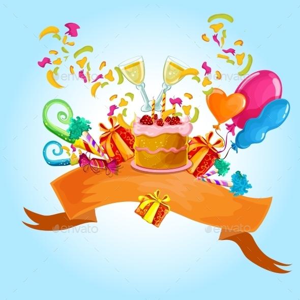 Celebration Background - Birthdays Seasons/Holidays