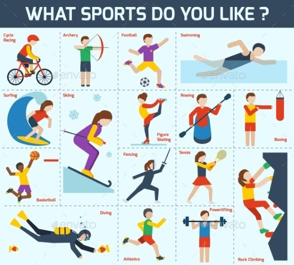 Sports Icons Set - Sports/Activity Conceptual