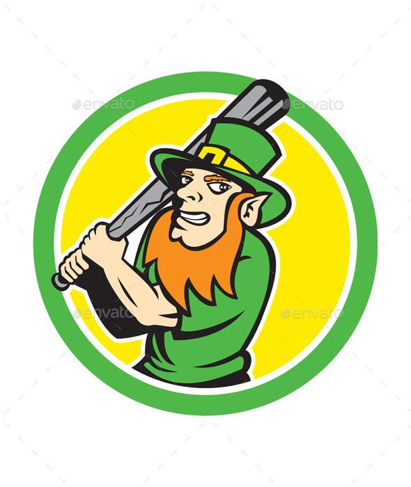 Leprechaun Baseball Circle - Miscellaneous Characters