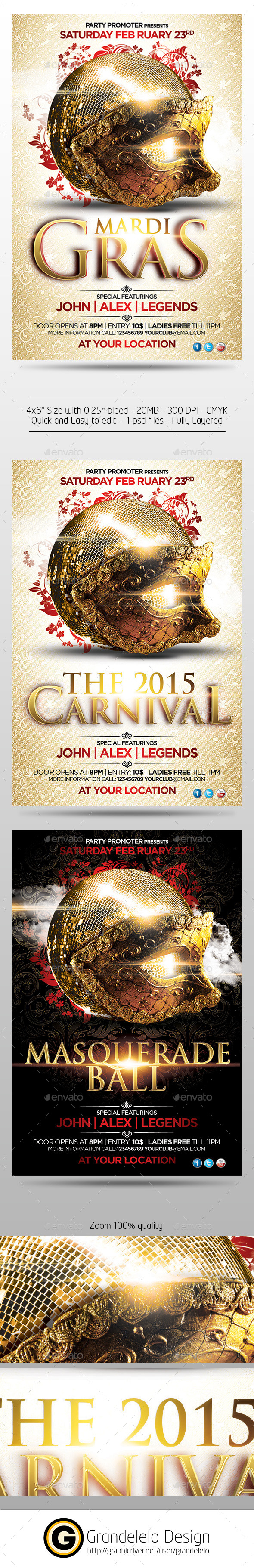 Mardigras n Carnival 2015 - Clubs & Parties Events