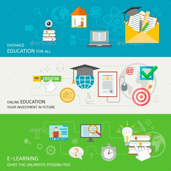 Online Education Banner - Miscellaneous Vectors